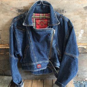 Vintage Bijou Bijou Crop Denim Jacket Size S